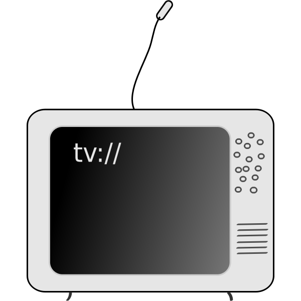 Vector clip art of old style TV set