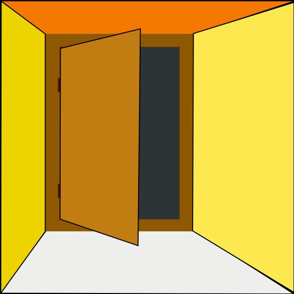 Vector illustration of exit door