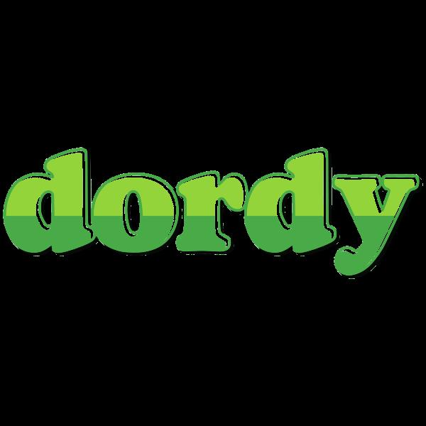 Dordy green text