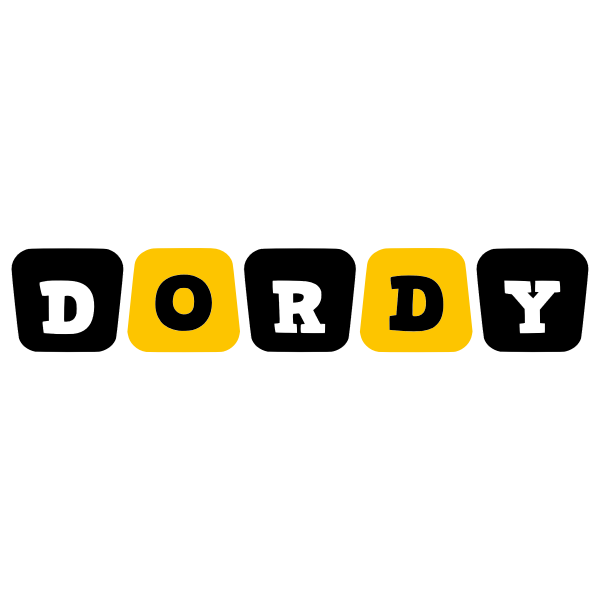 Dordy text black and yellow