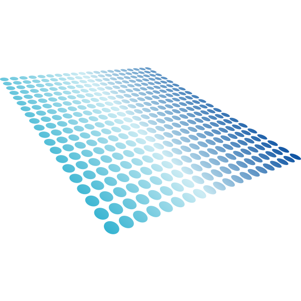 Blue Dots In Perspective
