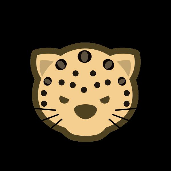 Japanese Dou Shou Qi leopard vector clip art