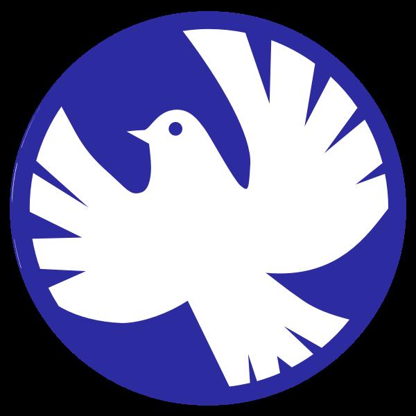White dove of peace vector illustration