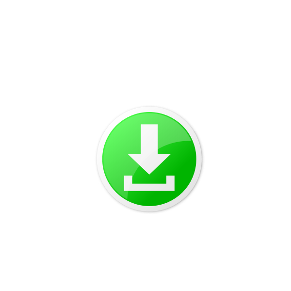 Vector drawing of green round download icon