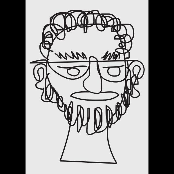 Bearded guy sketch