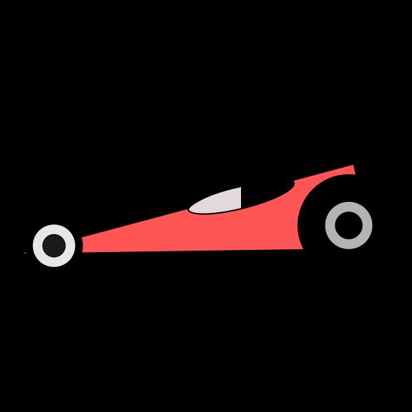 Top fuel dragster vector clip art