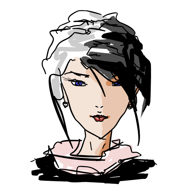 Woman S Face Sketch Free Svg