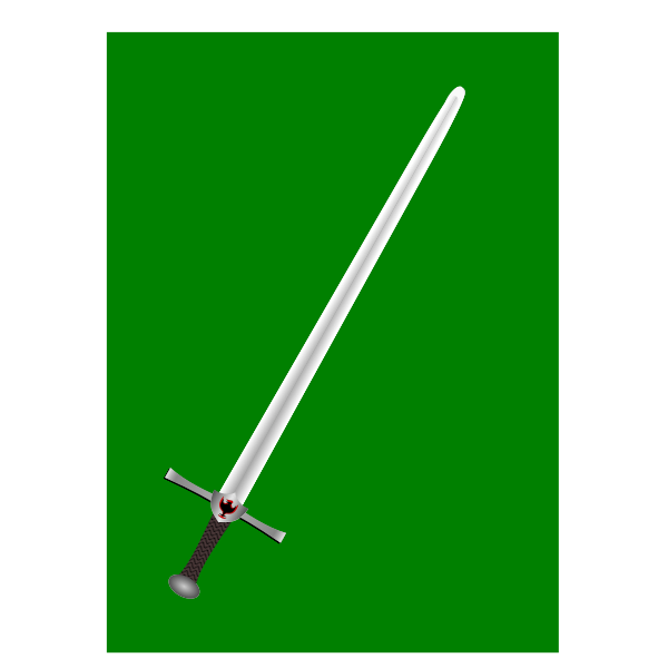 Sword on green background