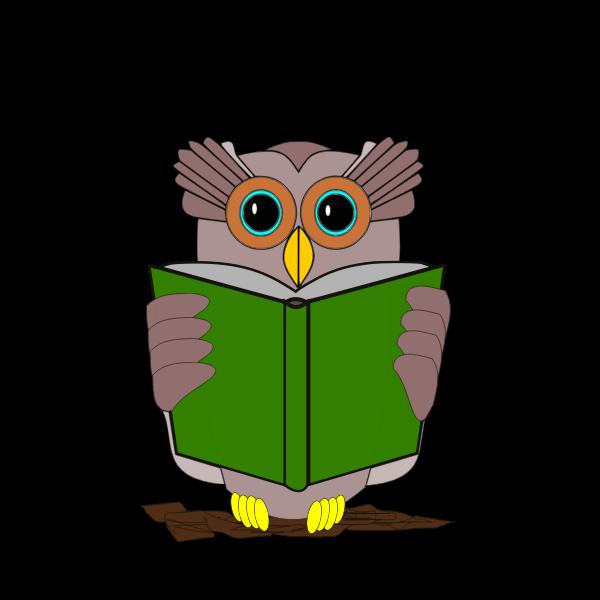 Owl reading a book-1574765551