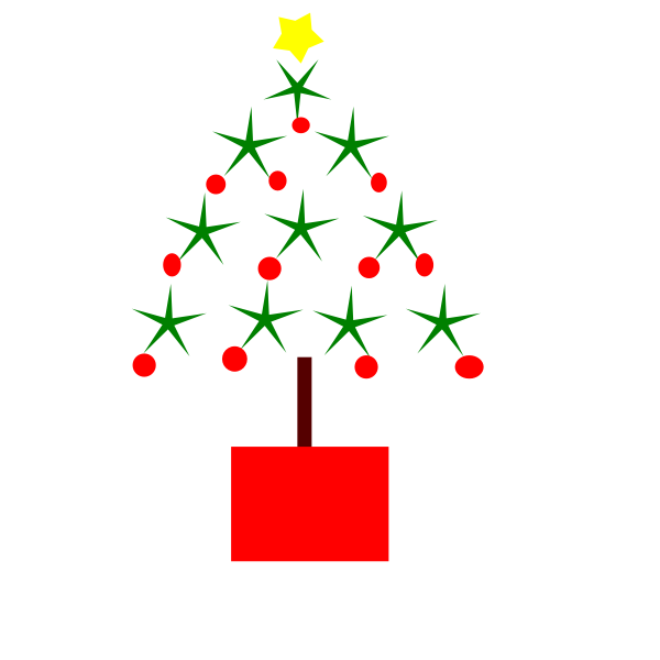 Christmas Tree Simple Vector