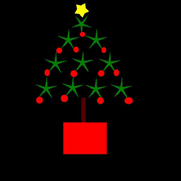 Christmas Tree Simple Vector