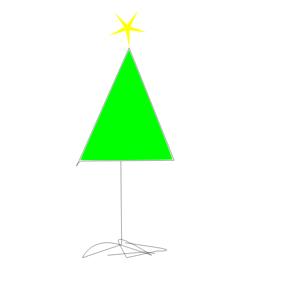 Simple Christmas tree graphics
