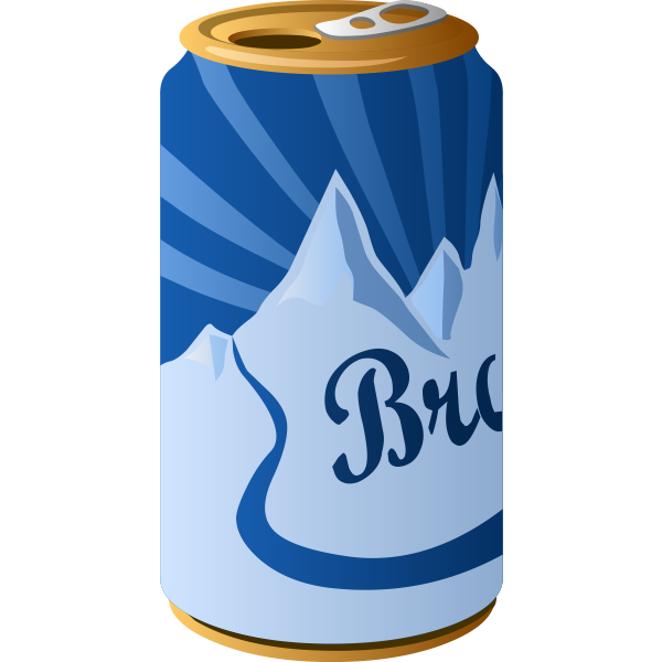 Canned drink color image