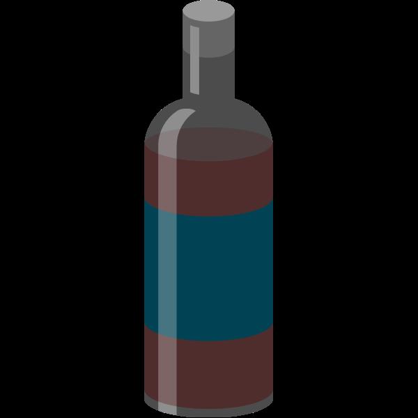 Red wine bottle vector graphics