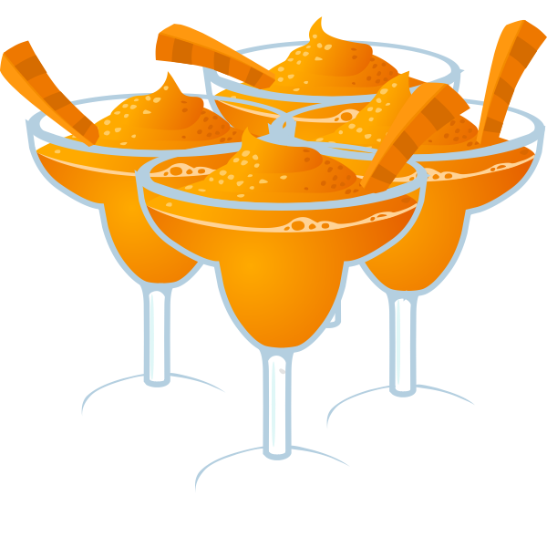 Carrot Margarita cockails vector clip art