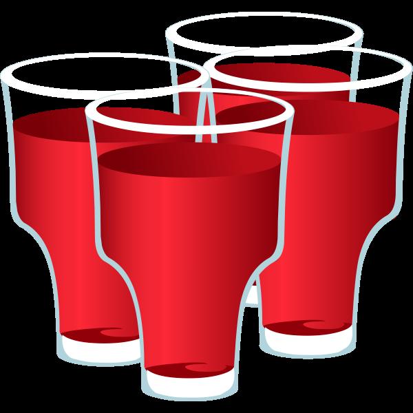 Fruity juices vector clip art