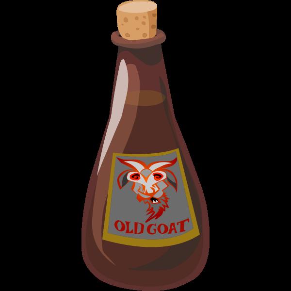 Goat liqueur vector graphics