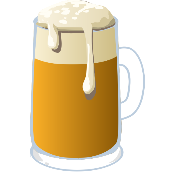 Vector image of a glass of beer