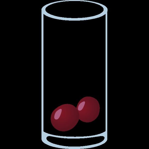 Simple drawing of aperitif glassware