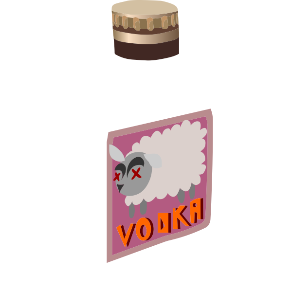 Vector drawing of label of Russian vodka