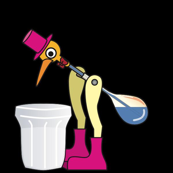 Drinking bird Animated