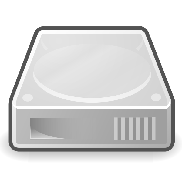 Vector drawing of thick border hard disc icon