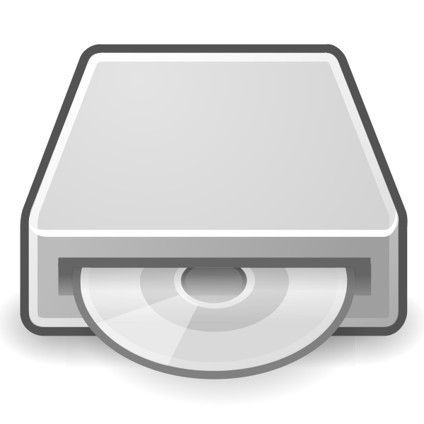 PC optical drive icon vector graphics