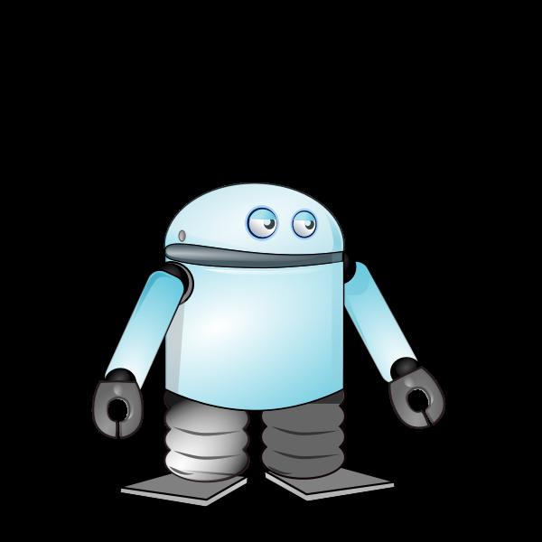 Cartoon blue robot vector image