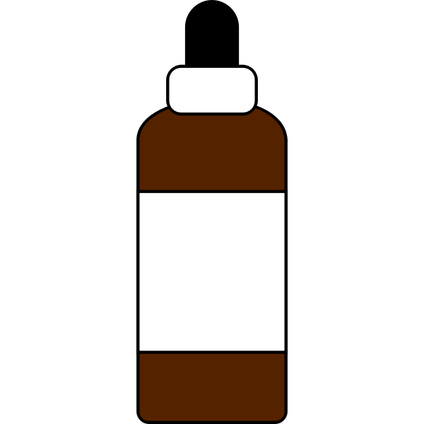 Dropper bottle with label