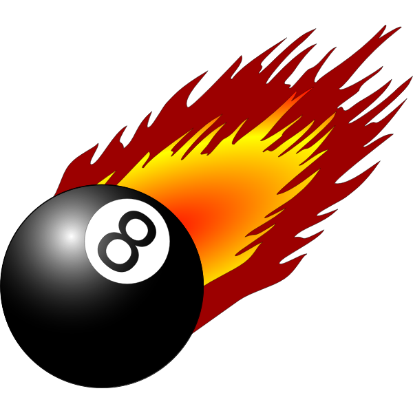 Ball with flames vector graphics