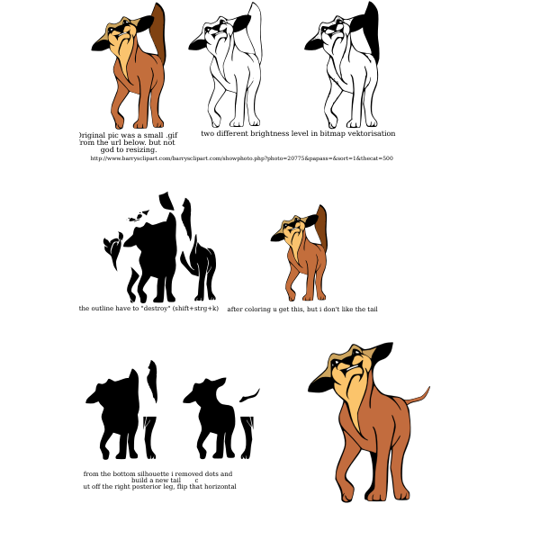 Angry dog vector images