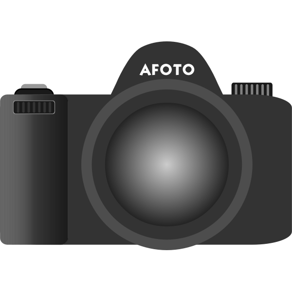 Old type DSLR camera vector image