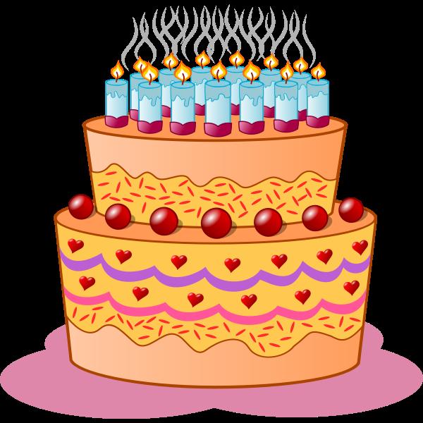 Birthday cake vector clip art image