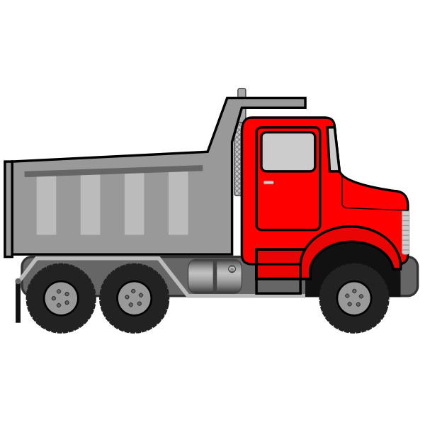 Dump truck vector drawing