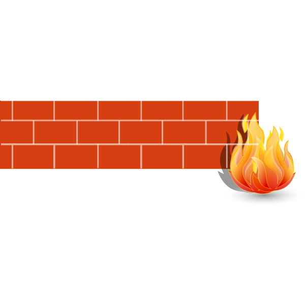2d firewall vector illustration