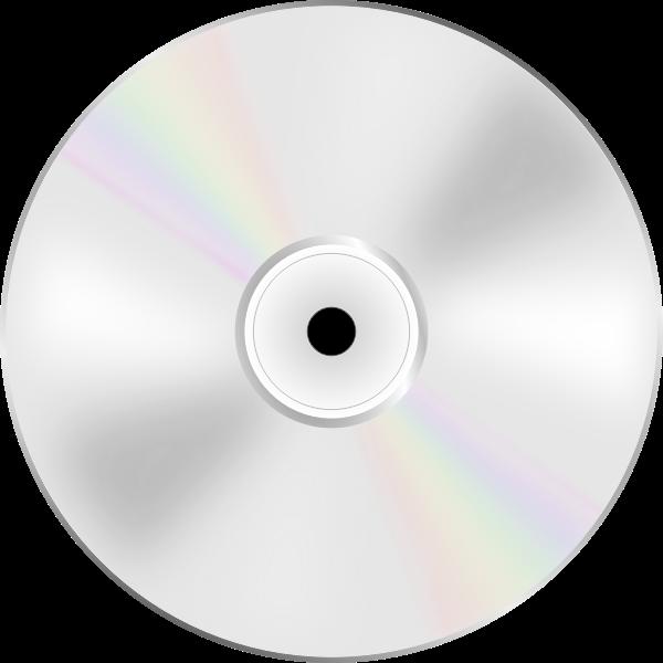 Illustration of DVD disc shiny side