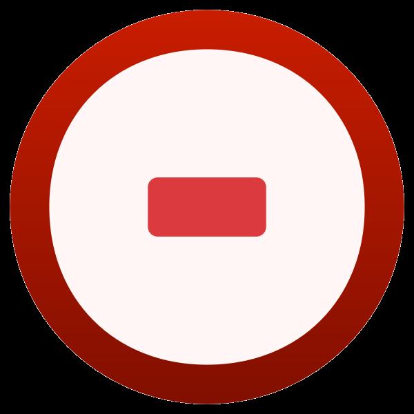 Red minus icon