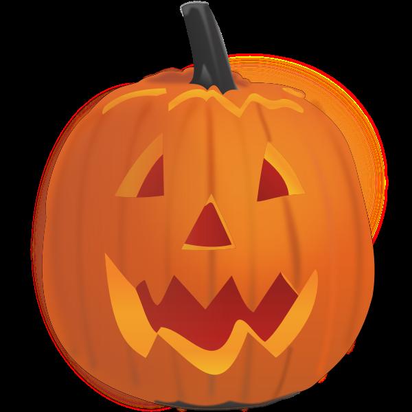 Vector graphics of smiling pumpkin