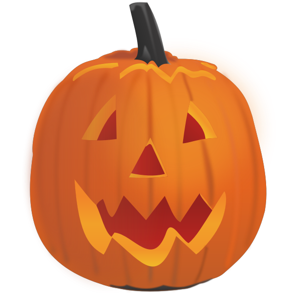 Vector graphics of smiling pumpkin