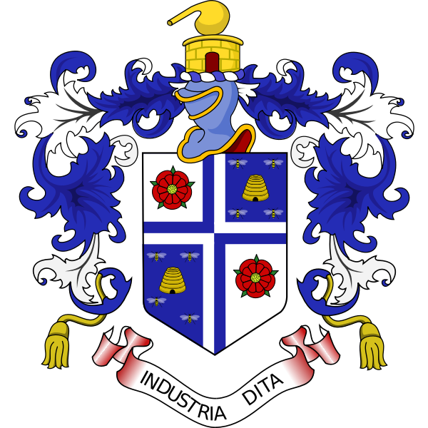 Vector image of coat of arms of industria dita