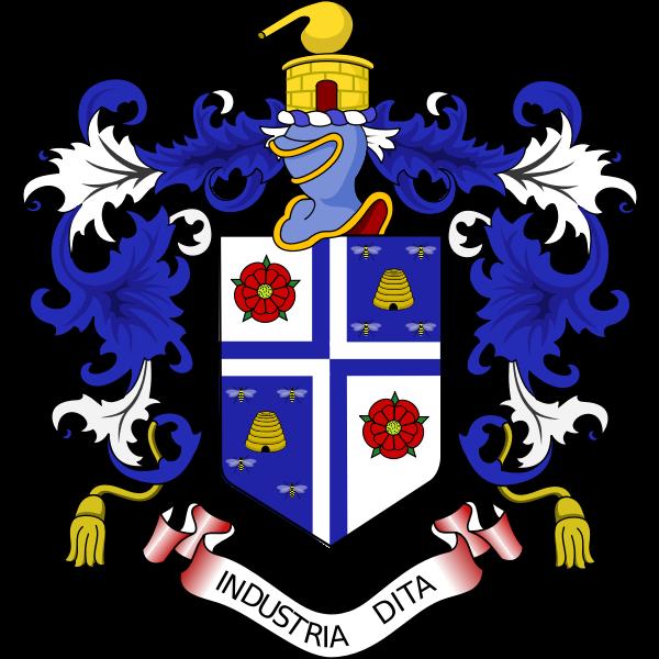 Vector image of coat of arms of industria dita