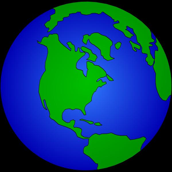 Blue and green globe