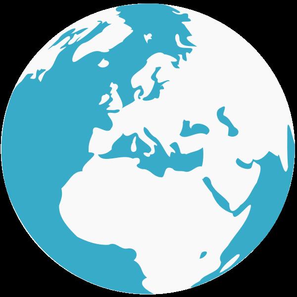 Earth blue and green globe vector clip art