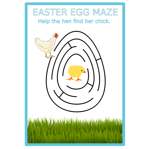 easter egg maze colour
