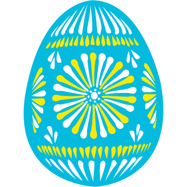 Blue Easter egg vector illustration