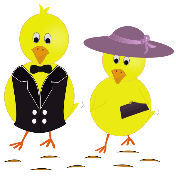 Easter sunday chicks vector image