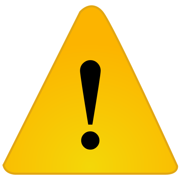 Warning notification sign vector image