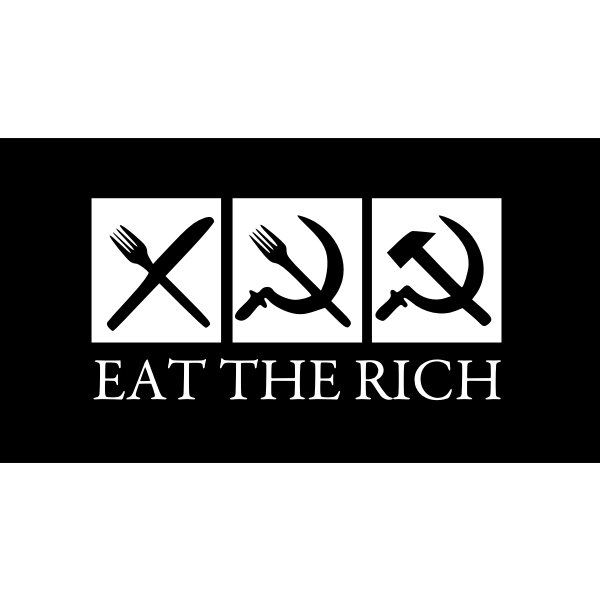 Eat the rich vector image