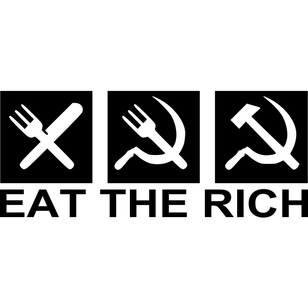 Eat the rich vector sign