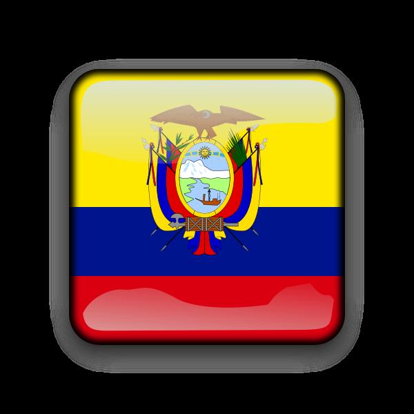 Ecuador flag vector button